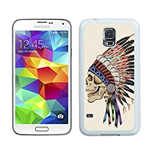 Custom Samsung Galaxy S5 Case Protective <Neo Hybrid> <Satin Silver> Slim Fit Dual Protection Cover for Galaxy S5 and Galaxy S5 Prime(2015)-Satin Silver,,Death Skeleton Samsung Galaxy S5 Case White Cover