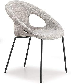 Scab Design Drop Pop Chaise avec Pieds Vernis Anthracite et