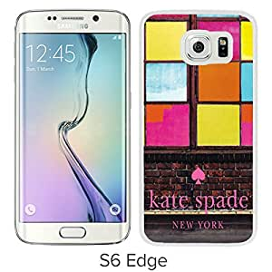 Lovely And Unique Custom Designed Kate Spade Cover Case For Samsung Galaxy S6 Edge White Phone Case 267