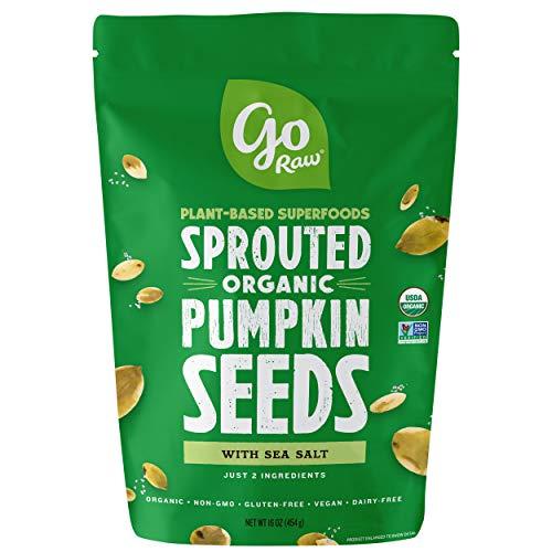 (Go Raw Pumpkin Seeds, Sprouted & Organic, 1 lb. Bag | Keto | Vegan | Gluten Free Snacks | Superfood)