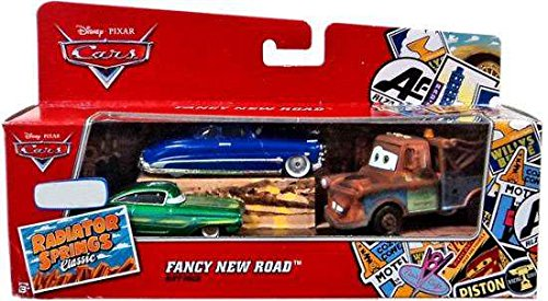 Disney/Pixar Cars World of Cars Exclusive Fancy New Road Gift Pack (Doc Hudson, Mater, and Green Ramone) 1:55 Scale