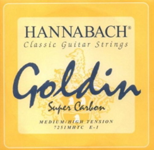 CUERDAS GUITARRA CLASICA - Hannabach (725/MHT) Goldin Sup...