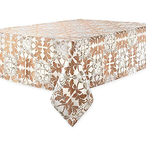 - Waterford Linens Octavia Tablecloth in Copper and Bronze (52 x 70)