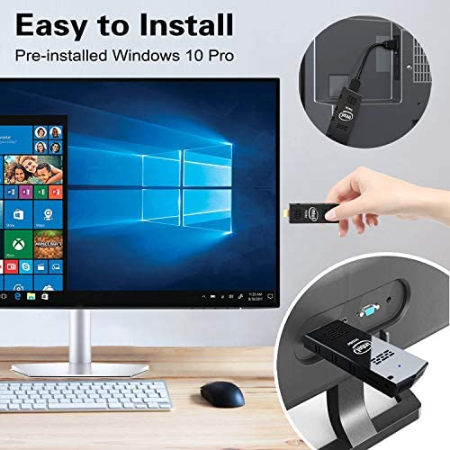 PC Stick Mini Computer Stick 128GB ROM 4GB RAM with Intel Atom Z8350 & Windows 10 Pro Support Auto-On After Power Failure,Support 4K HD,Dual Band WiFi 2.4G/5G, BT 4.2 AKLWY (4+128 win10 pro)
