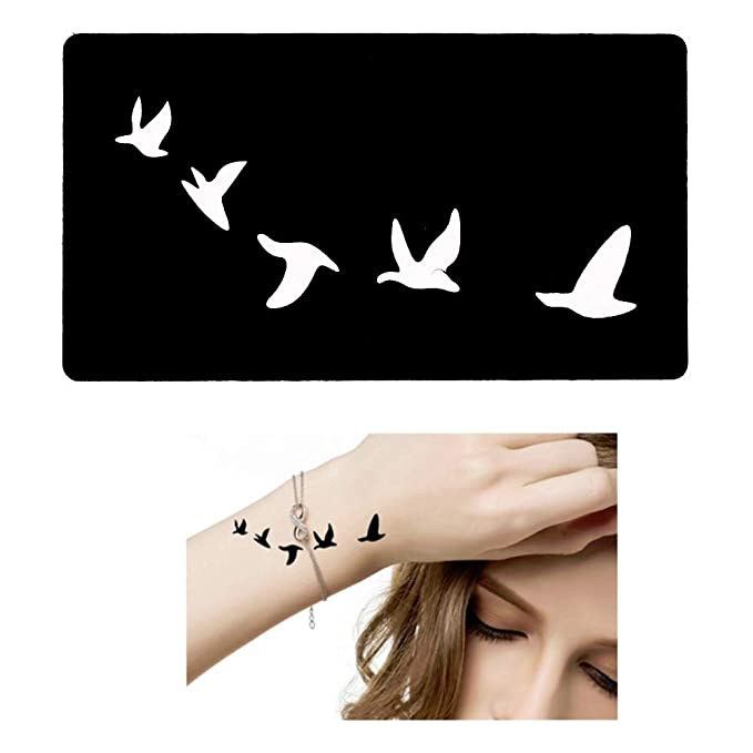 Just Fox - Plantilla de tatuaje de henna, aerógrafo Stencil Dövme ...