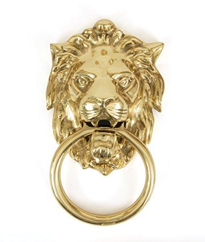 From the Anvil 33020 Lion's Head Door Knocker - Polished Brass (Brass Polished Knocker)