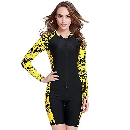 Upf50 Wetsuit 1mm Long Swimming Suits For Women Men Windsurf Lycra Dive Surf Wet Suit Diving Surfing Wetsuits Swim (Women Yellow, - For Wetsuits Sale Swimming