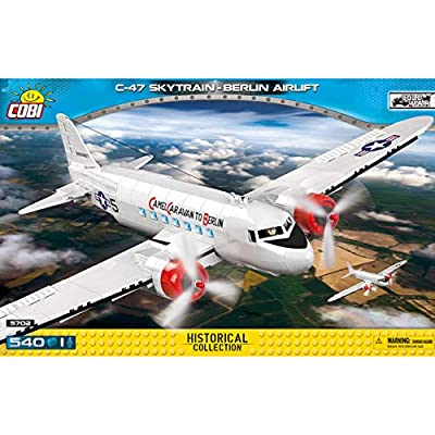 COBI Historical Collection C-47 Skytrain - Berlin Airlift, Multicolor: Toys & Games