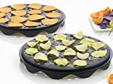 Top Chips Maker - Mastrad Set of 2 Interlocking Silicone Chip Trays - Crisp Vegetables Fruits Without Fats and Oils -...