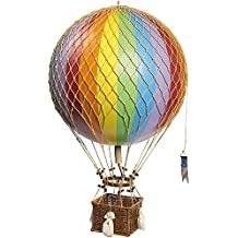 Authentic Models Light Hot Air Balloon in Rainbow