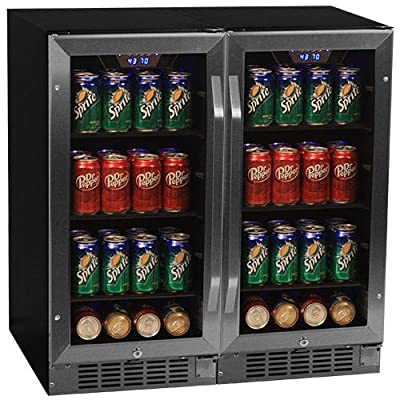 EdgeStar CBR901SGDUAL Side by Side 30 Inch Wide Built-In Beverage Coolers with B