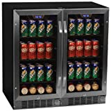 "Appliances : Edgestar CBR901SGDUAL 160 Can 30"" Built-In Side-by-Side Beverage Cooler"