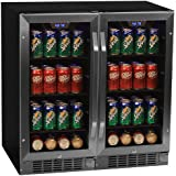 Edgestar CBR901SGDUAL 160 Can 30 Built-In Side-by-Side Beverage Cooler