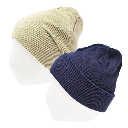 HappyTree 2 Pack Infant Toddler Baby Hat Unisex 100% Cotton Knit Soft Newborn Kids Hat Beanies Caps, 1-4 yrs