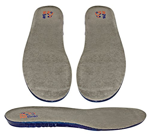 Youth Soccer Arch (Children's Gel Sport Insoles for All Day Wear (Kids sizes 4-7) (Arch and Heel)