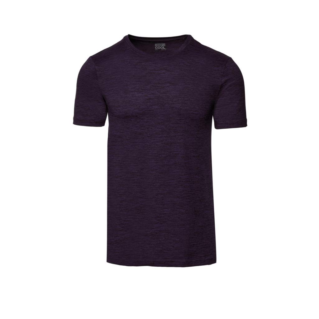 647506d0 Galleon - 32 DEGREES Mens Cool Crew Neck Tee-Dark Plum Space Dye -XL