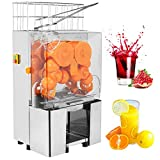 SUNCOO Commercial Orange Juicer Machine Automatic Electric Citrus Fruit Juice Making Machine Heavy Duty with Stainless Steel Bins