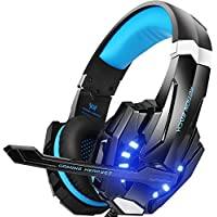 Bengoo G9000 Over-Ear 3.5mm Wired Gaming Headphones with Mic, LED Light, Bass Surround