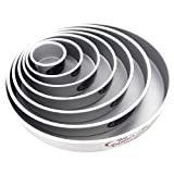 Fat Daddio's Round Cake Pan Set 4''-6''-8''-10''-12''