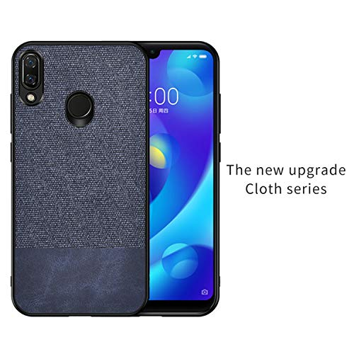 for Samsung Galaxy a70 a50 a40 a30 Case Fabric Cloth Silicone TPU Bumper Hard PC Back Cover for Samsung Galaxy a80 A10 Case,Splice Blue,for Samsung A20]()