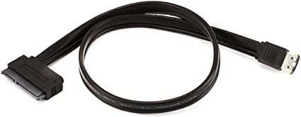 Silverstone Tek Sleeved Slim-SATA to SATA Adapter Cable CP10