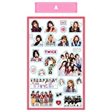 Twice Kpop Cute Stickers for Laptop Car Decoration Cellphone Decal (Twice-A, 2pcs)