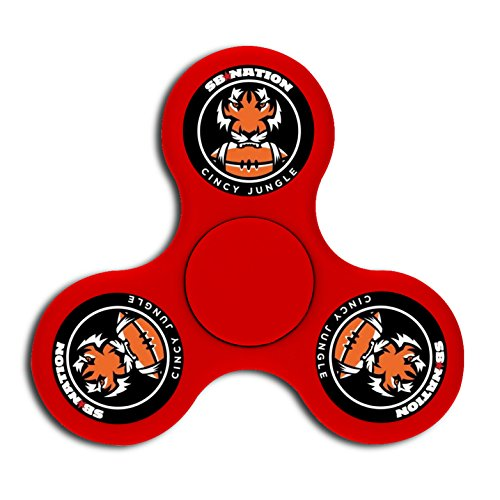 Bengals Finger Football Game (Customized Bengals Football Logo High-speed Peg-tops Finger Fidget Spinner Hand Safety Toy for Relieve Stress)