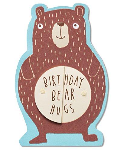 American Greetings Bear Hugs Birthday Card with Flocking