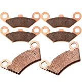 Sintered Brake Pads ECCPP Motorcycle Replacement Front and Rear Braking Pads Kits Set for Polaris Sportsman 500 HO 2011 2012 2013 2014