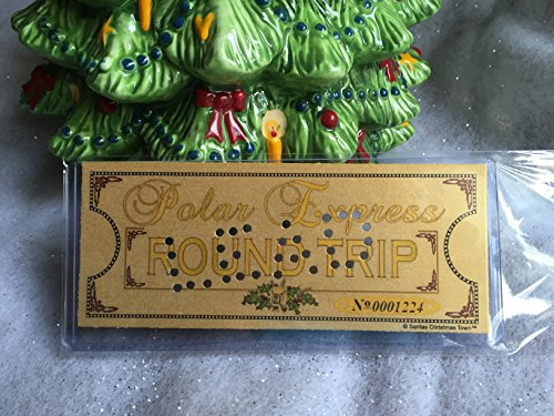 Polar Express 'LEAD' Hole Punched Round Trip Keepsake Ticket (Round Ticket Holder compare prices)
