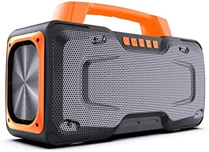 Bluetooth Speakers, BUGANI M118 Portable Bluetooth Speakers, 50W Super Power, Fast Charging, Outdoor Bluetooth Speaker for Parties, Singing and Travel (Orange)