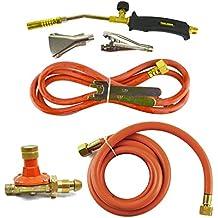 Gas Torch Burner 2m Hose Roofer Plumber Weed Propane & Butane & Regulator
