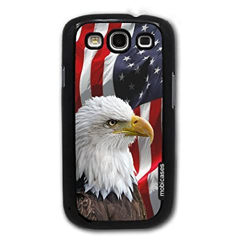 Bald Eagle American Flag - Protective Designer BLACK Case - Fits Samsung Galaxy S3 SIII i9300 (Galaxy S3 Phone Cases Samsung)