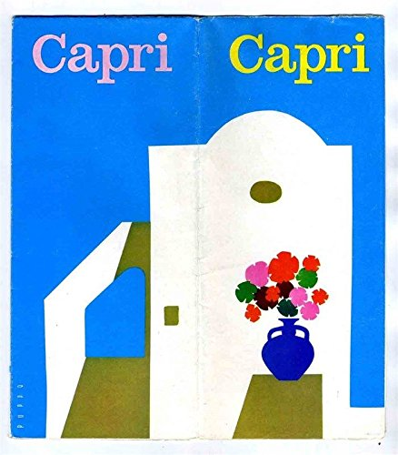 The Island of Capri Travel Tour Brochure with Pictorial Map Italy ()