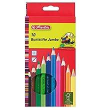 herlitz Jumbo 10795276 - Lápices de, color es lacados (10 unidades)