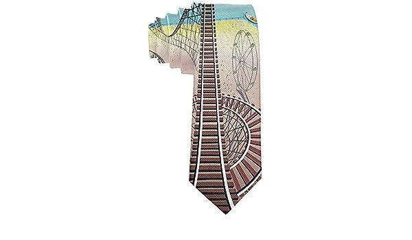 Anna-Shop Corbata de seda de montaña rusa unisex Corbata delgada ...