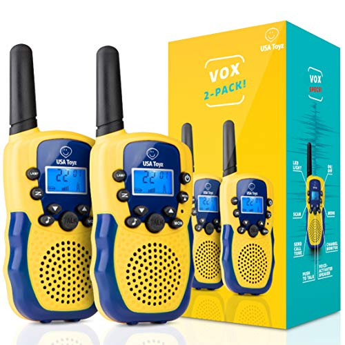 Walkie Talkies for Kids - Vox Box Kids Walkie Talkies for Boys or Girls, Voice Activated Long Range Outdoor Toys Walkie Talkie Set