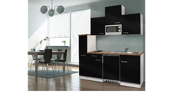 respekta KB180WWMI - Bloque de Cocina (180 cm Color Blanco Negro ...