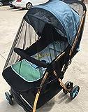 "Birdfly Infant Baby Stroller Double Mosquito Net Bug Netting Cover (Diameter:59"", Black)"