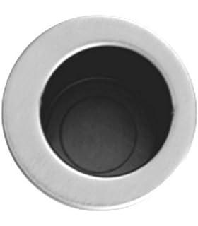 Tirador ovalado para puerta corredera de Goldenwarm, acero inoxidable satinado, 120 x 40 x 14 mm, con tornillos escondidos: Amazon.es: Bricolaje y herramientas