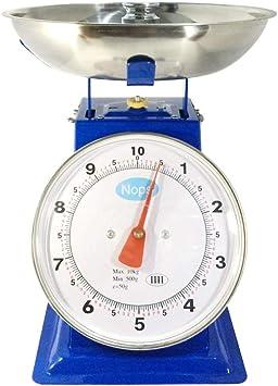 QCRLB Balanza mecánica, 1kg3kg5kg Balance de Primavera Bandeja de Puntero a la Antigua Báscula de Cocina Báscula de pesaje de Plataforma mecánica de Metal (Size : 1KG): Amazon.es: Hogar