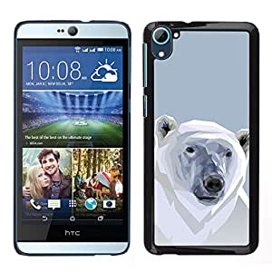 ZAKO CASE - Polygon Polar Bear - FOR HTC Desire D826 - Carcasa Funda Case Bandera Cover Armor Shell