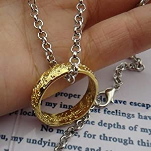 Amazon officially licensed lord of the rings frodos one ring officially licensed lord of the rings frodos one ring of power pendant aloadofball Choice Image
