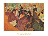 Le Moulin Rouge by Henri Toulouse-Lautrec 16x20 art print poster. Paper quality: heavy duty 120 pound art stock. Check store for other sizes available