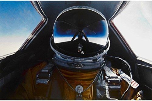 Pilot in Cockpit of SR-71 Blackbird; Custom Printed Photogra