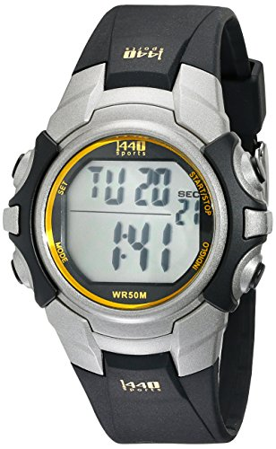 Timex Men's T5J561 1440 Digital Sport Watch with Black Resin Band