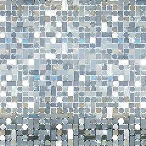 Lámina estática ventana piedras arco iris Ref ÁUREA Vinilo decorativo estático privacidad, 99% protección solar UV. Antiácaros. Fácil colocación. Sin adhesivo. Reutilizable. Cristal, mampara. 92cm x 1,5m: Amazon.es: Hogar