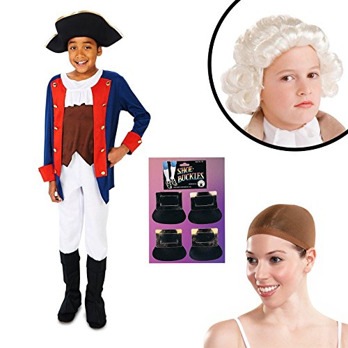 [Patriot Soldier Boy Child Costume Kit Small] (Colonial Patriot Costumes)