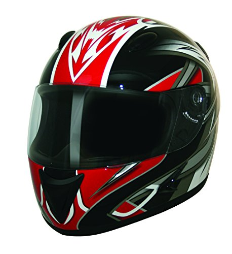 HCI HCI-75 Blade Full Face Helmet (Red Blade Graphic, Medium/Size 03) (Blade Dot Helmet)