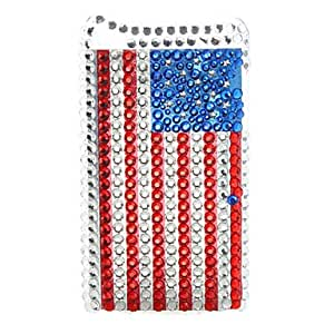 ZXSPACE Flag Pattern Style Diamond Protective Case for iTouch 4